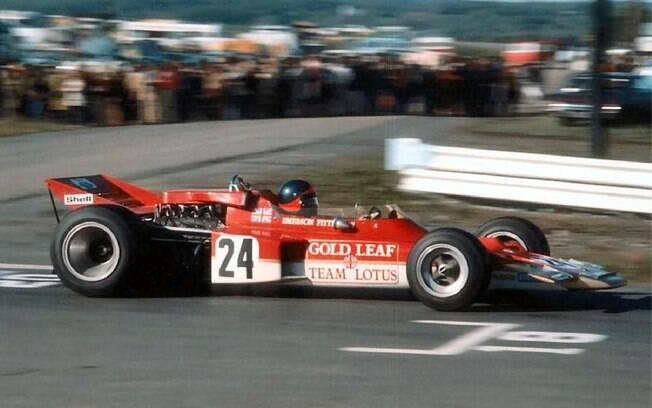 Emerson Fittipaldi: vitória inesperada em seu quatro GP, para garantir o título póstumo ao companheiro da Lotus