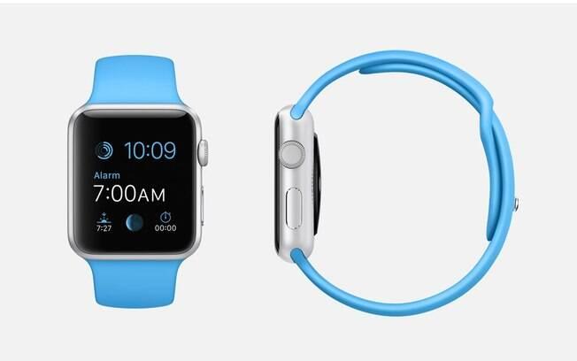 0e2d0bde2d9 Apple Watch Sports com pulseira azul