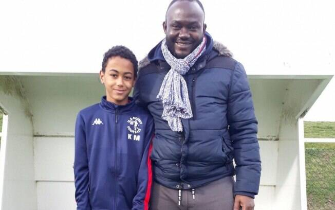 Jovem Kylian Mbappé, de 11 anos, está na mira do PSG