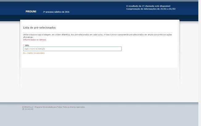 MEC divulga a lista de aprovados no Prouni