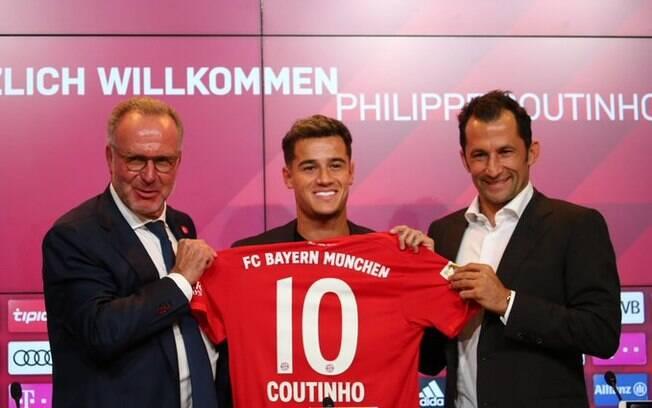 Philippe Coutinho foi emprestado pelo Barcelona ao Bayern de Munique