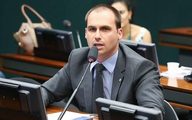 Eduardo Bolsonaro foi eleito presidente da Comissão de Relações Exteriores da Câmara dos Deputados