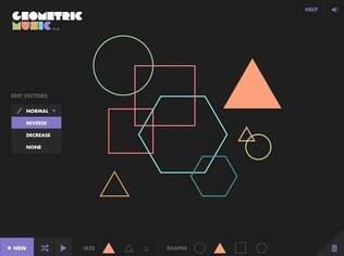 Disponível para Android e iOS, Geometric Music é um programa gratuito que permite que o usuário faça músicas com sons próprios e formas geométricas