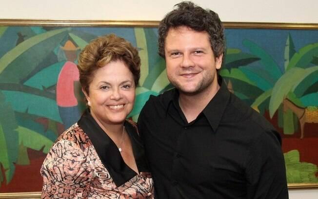 Em 2012, a presidente Dilma Rousseff encontrou com o ator Selton Mello no Palácio do Planalto (22/03/2012)