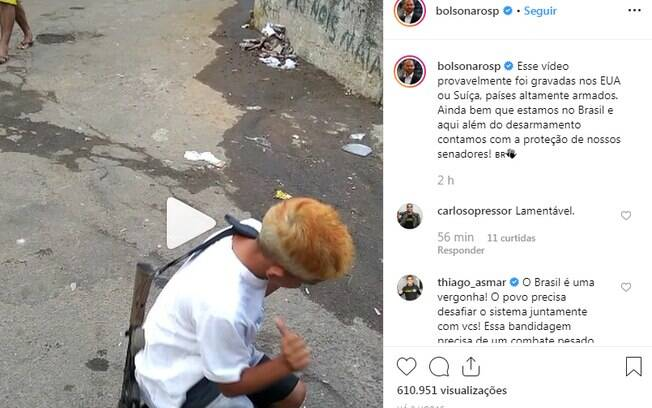 Eduardo Bolsonaro publicou vídeo sem borrar a imagem do rosto da criança