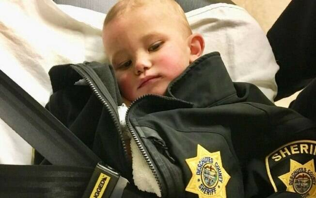 Com apenas um ano, Bradley ficou perdido em floresta por muitas horas e foi encaminhado ao hospital para exames