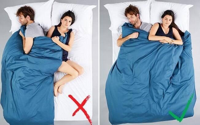 Dividir o edredom também pode causar intrigas nas relações amorosas