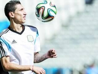 Depois de Messi, Di María (foto) é a grande esperança do ataque da Argentina