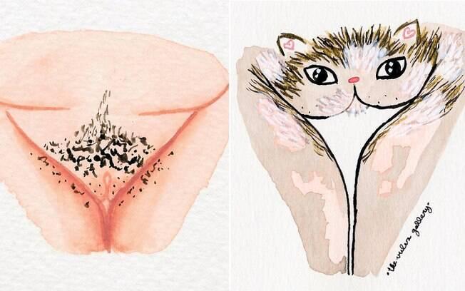 Além de criar ilustrações, a artista publica relatos anônimos de mulheres que passaram a se amar após vê-las