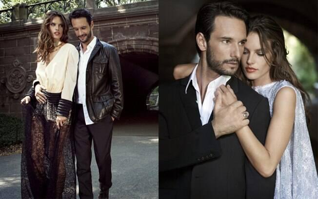 Rodrigo Santoro e Alessandra Ambrósio em fotos para a