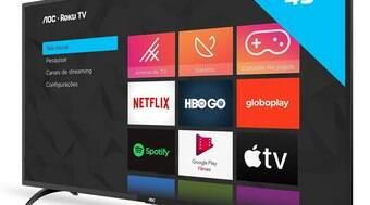 Smart TV de 43 polegadas com Roku