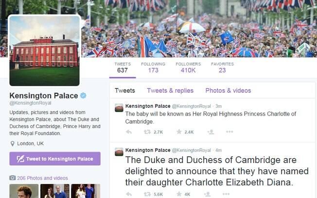 Nome da filha de Kate Middleton e príncipe William é divulgado