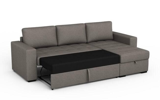 Na hora de escolher um sofá-cama, é importante testá-lo nas duas formas para garantir que será confortável sempre