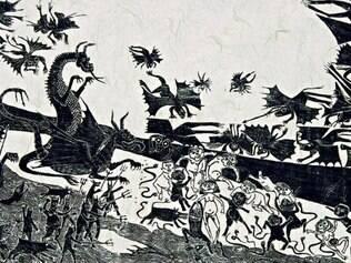 Série de xilogravuras desenvolvidas pela artista é um dos destaques da exposição que conta com diferentes fases