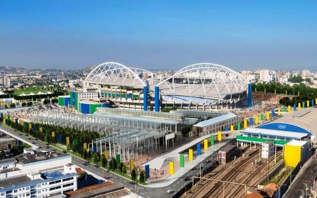 O Estádio do Engenhão receberá as competições  de atletismo nos Jogos do Rio 2016
