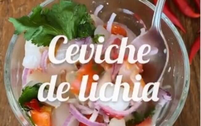 O ceviche de lichia é perfeito para você que quer algo refrescante e sem carne