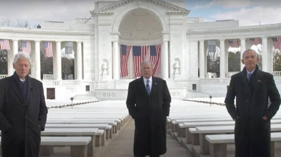 Ex-presidentes dos EUA se reunem em campanha para incentivar vacinação contra a Covid-19
