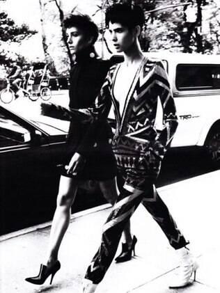 Isabel Hickmann é clicada para Vogue Alemanha pelas ruas de Nova York