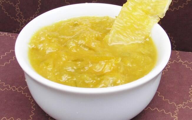 Foto da receita Geleia de laranja com gengibre pronta.