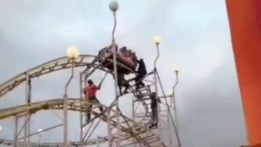 Funcionário do parque fez o resgate