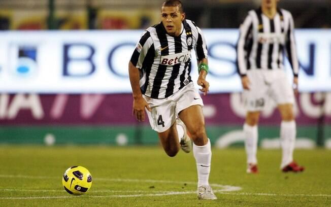 Felipe Melo em ação pela Juventus. Foram duas  temporadas atuando pelo clube italiano
