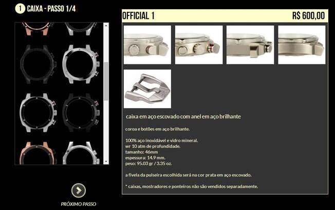 9306276cd4d Sistema de customização de relógios da Brother   Brother permite que  cliente escolha a caixa (