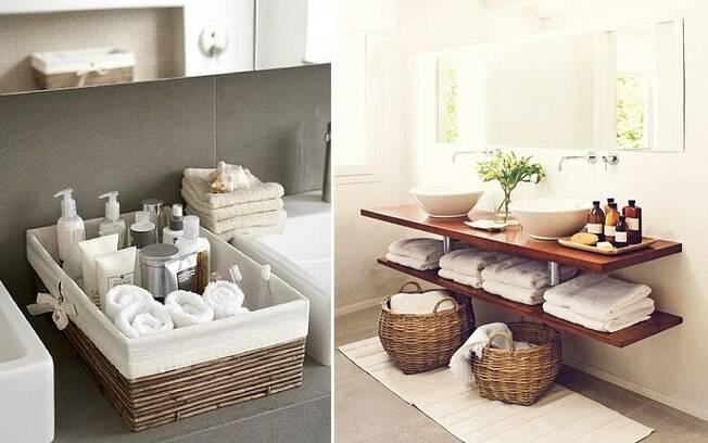 Há, porém, outras formas de tornar o ambiente confortável, como dispor toalhas, esponjas e sabonetes em cestinhos