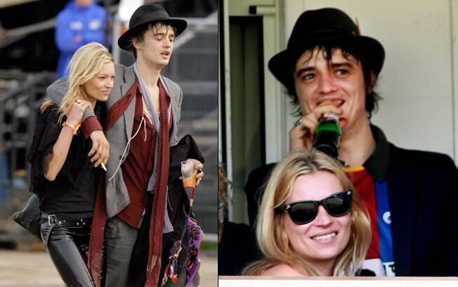 Kate Moss e Pete Doherty em 2007, quando ainda namoravam