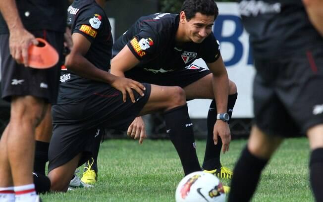Ganso treinou junto do grupo do São Paulo  nesta segunda