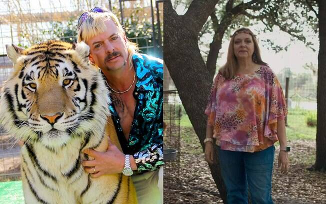 Joe Exotic e Carole Baskin