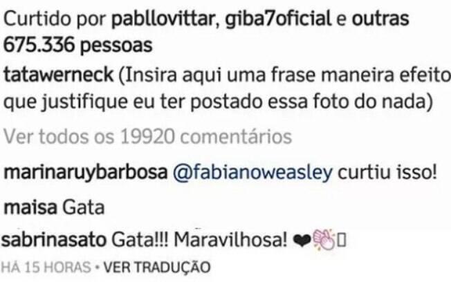 Tatá Werneck ganha elogios de Marina Ruy Barbosa, Maisa e Sabrina Sato