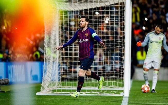 Lionel Messi fez mais um gol pelo Barcelona na Liga dos Campeões