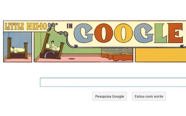 Novo doodle do Google mostra tira semanal de McCay