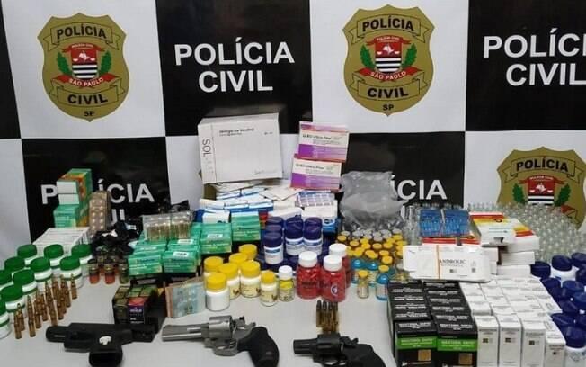 Suspeitos são presos por venda irregular de anabolizantes e remédios