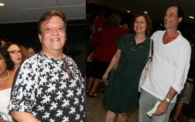 Na esquerda, Luis Mello. Na direita, Louise Cardoso com o marido