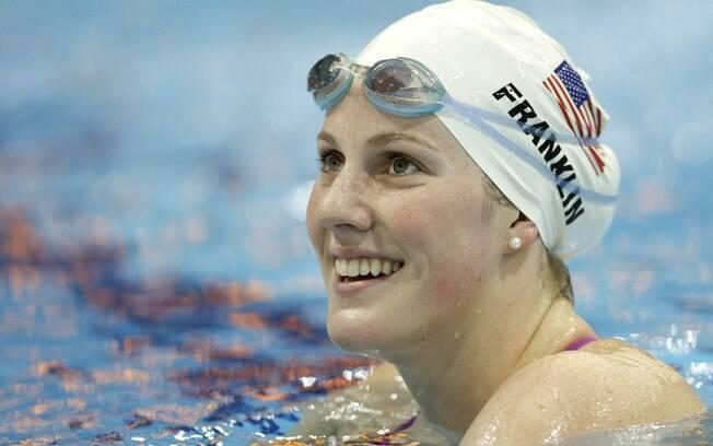 Nadadora norte-americana Missy Franklin  chocou o mundo ao conquistar 4 ouros nos Jogos de  Londres com apenas 17 anos de idade