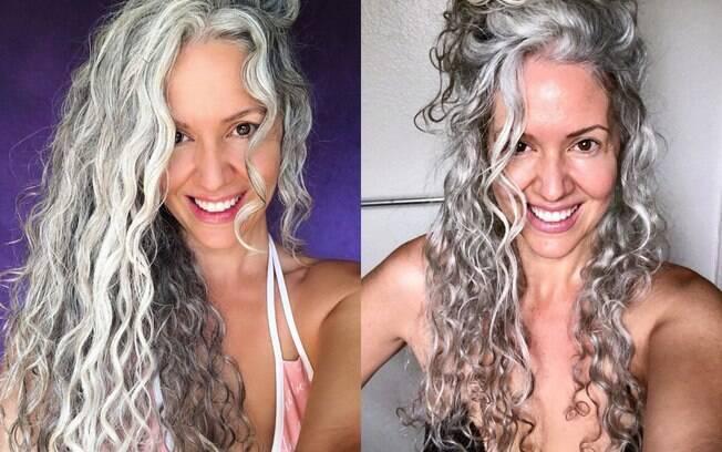 Sara Eisenman começou a ter cabelos brancos aos 21 anos de idade, mas só parou de tingi-los 16 anos depois, aos 37