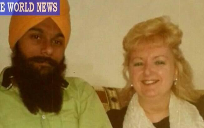 Angela e Jaspal começaram a namorar pela internet e se encontraram em maio deste ano na Índia