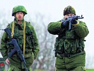 Ocupação. Cerca de 20 mil soldados russos estão na Crimeia, segundo o Pentágono, órgão dos EUA