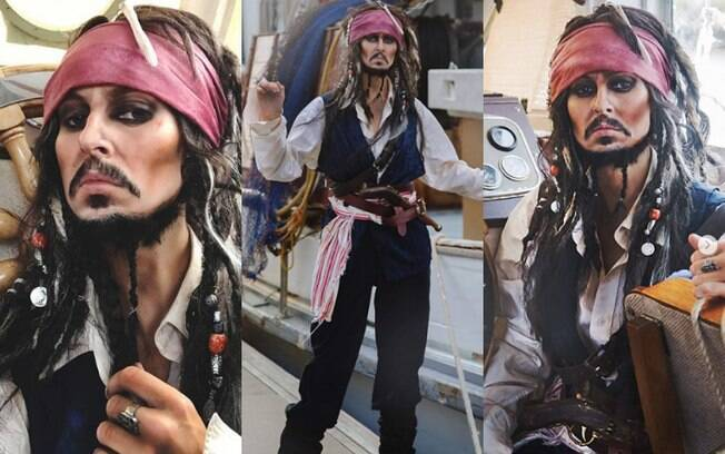 Rhylee começou a fazer maquiagem artística ao se transformar no personagem Jack Sparrow, da franquia 'Piratas do Caribe'