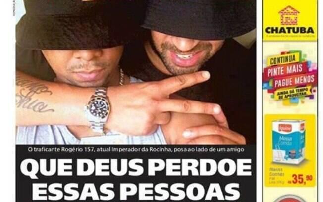 Adriano Imperador desabafa após aparecer com traficante em foto estampada na capa do jornal Meia Hora