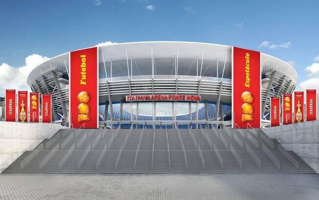 Foto de como ficará a fachada da Itaipava Arena Fonte Nova