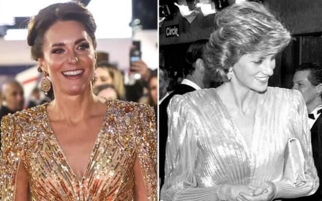Kate e Diana com vestidos parecidos