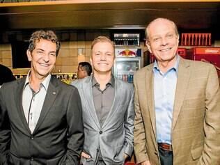 Trio. Jader Kalid, Rodrigo Duarte e Oswaldo Borges da Costa