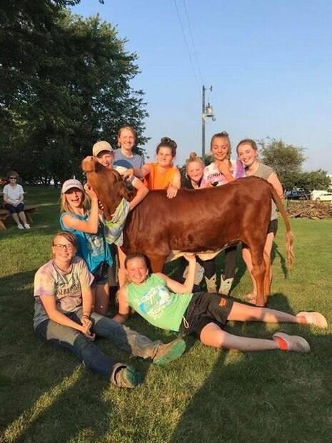 Vaca fofíssima ganhou uma festa em seu primeiro aniversário