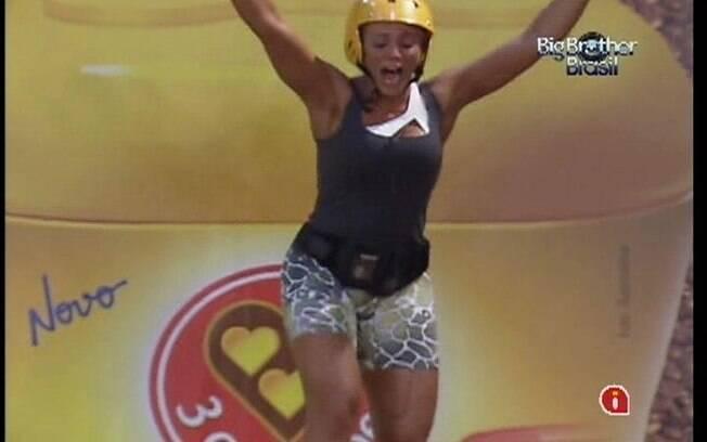 Fabiana venceu a última Prova de Resistência