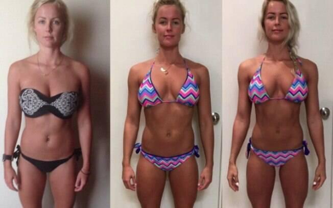 Australiana usa as redes sociais para mostrar as mudanças no corpo com o aumento de carboidratos