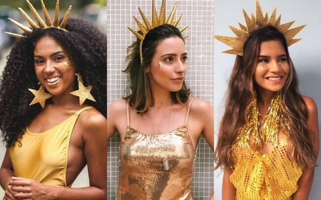 Fantasias de carnaval: brilhar como o Sol não é tão difícil, mesmo que você tenha que improvisar com uma folha de EVA