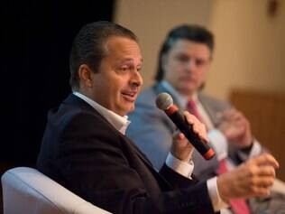 POLITICA -  São Paulo-SP, Brasil- O Candidato a presidência Eduardo Campos participa de reunião das Diretorias Plenárias da Abimaq/Sindimaq, em São Paulo.....Foto: PSB..07/08/2014
