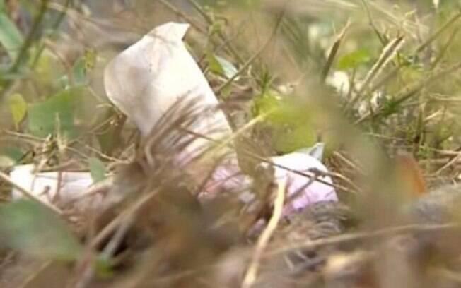 Restos mortais do bebê foram encontrados em saco plástico